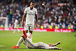 Real Madrid's player Gareth Bale and Mariano Diaz Mejiaduring a match of La Liga Santander at Santiago Bernabeu Stadium in Madrid. August 27, Spain. 2016. (ALTERPHOTOS/BorjaB.Hojas)