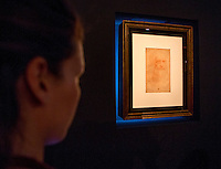 Presentazione alla stampa dell'Autoritratto di Leonardo da Vinci in mostra dal 23 giugno al 3 agosto ai Musei Capitolini, Roma, 22 giugno 2015.<br /> The self portrait of Leonardo da Vinci (Portrait of a man in red chalk) displayed at the Capitoline Museums  from 23 June o 3 August, in Rome, 22 June 2015.<br /> UPDATE IMAGES PRESS/Riccardo De Luca