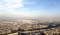 Paris: Looking Northeast from Eiffel Tower.