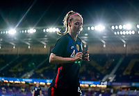 ORLANDO, FL - FEBRUARY 24: Becky Sauerbrunn #4 of the USWNT jogs off the field during a game between Argentina and USWNT at Exploria Stadium on February 24, 2021 in Orlando, Florida.