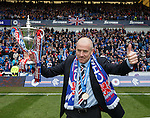 Mark Warburton with the league trophy
