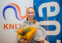 Hilversum, Netherlands, December 3, 2017, Winter Youth Circuit Masters, Overall Winner girls 14 years Anouk Koevermans<br /> Photo: Tennisimages/Henk Koster