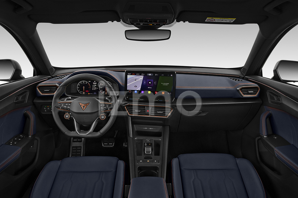Straight dashboard view of a 2021 Cupra Formentor SUV