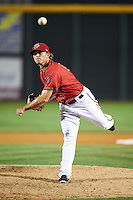 Harrisburg Senators pitcher Nick Lee (14) delivers a pitch during a game against the New Hampshire Fisher Cats on July 21, 2015 at Metro Bank Park in Harrisburg, Pennsylvania.  New Hampshire defeated Harrisburg 7-1.  (Mike Janes/Four Seam Images)