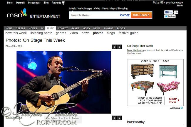 msn.com - Dave Matthews 2012