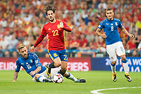 Spain's Fernando Alarcon 'Isco' and Italy's Daniele De Rossi and Marco Verratti during match between Spain and Italy to clasification to World Cup 2018 at Santiago Bernabeu Stadium in Madrid, Spain September 02, 2017. (ALTERPHOTOS/Borja B.Hojas)
