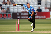 Tymal Mills in bowing action for Sussex during Essex Eagles vs Sussex Sharks, Vitality Blast T20 Cricket at The Cloudfm County Ground on 15th June 2021