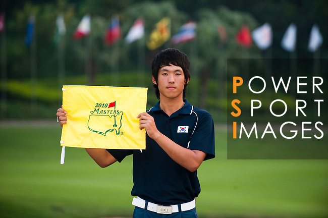 SHENZHEN, CHINA - NOVEMBER 01:  Chang-Won Han of South Korea poses after winning the Asian Amateur Championship at the Mission Hills Golf Club on November 1, 2009 in Shenzhen, Guangdong, China. Chang-Won Han wins a place at the 2010 Masters Tournament and International Final Qualifying for the 150th Open Championship at St Andrews  (Photo by Victor Fraile/The Power of Sport Images) *** Local Caption *** Chang-Won Han