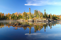"""""""Perfect Fall Day in BWCA""""<br /> <br /> View from a morning paddle along the North Kawishiwi River in the Boundary Waters Canoe Area Wilderness (BWCAW)."""