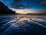 Morro Rock, sunset, California