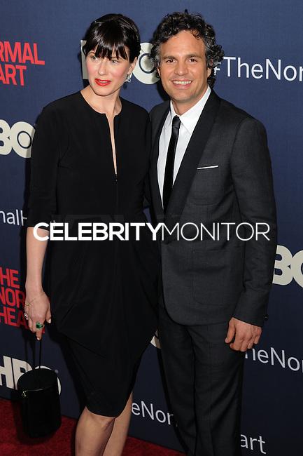 "NEW YORK CITY, NY, USA - MAY 12: Sunrise Coigney, Mark Ruffalo at the New York Screening Of HBO's ""The Normal Heart"" held at the Ziegfeld Theater on May 12, 2014 in New York City, New York, United States. (Photo by Celebrity Monitor)"