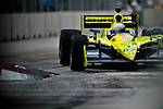 Ed Carpenter, in his Dollar General/Sarah Fisher Racing car, during practice for the Baltimore Grand Prix in Baltimore, Maryland on September 3, 2011