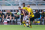 AC Milan Midfielder Jose Mauri (L) fights for the ball with Borussia Dortmund Midfielder Sebastian Rode (R) during the International Champions Cup 2017 match between AC Milan vs Borussia Dortmund at University Town Sports Centre Stadium on July 18, 2017 in Guangzhou, China. Photo by Marcio Rodrigo Machado / Power Sport Images