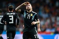 Argentina's Nicolas Otamendi celebrates goal during international friendly match. March 27,2018.(ALTERPHOTOS/Acero) /NortePhoto.com NORTEPHOTOMEXICO