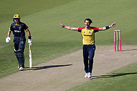 Jack Plom of Essex appeals for a wicket during Glamorgan vs Essex Eagles, Vitality Blast T20 Cricket at the Sophia Gardens Cardiff on 13th June 2021
