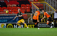 2nd October 2020; Tannadice Park, Dundee, Scotland; Scottish Premiership Football, Dundee United versus Livingston; Nicky Clark of Dundee United scores the opening goal to put his side 1-0 ahead in the 17th minute