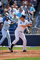 New York Yankees first baseman Mark Teixeira (25) at bat during a Spring Training game against the Detroit Tigers on March 2, 2016 at George M. Steinbrenner Field in Tampa, Florida.  New York defeated Detroit 10-9.  (Mike Janes/Four Seam Images)