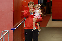 Chicago, IL - Saturday July 30, 2016: Rory Dames, daughter after a regular season National Women's Soccer League (NWSL) match between the Chicago Red Stars and FC Kansas City at Toyota Park.
