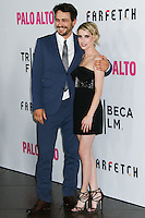 """LOS ANGELES, CA, USA - MAY 05: James Franco, Emma Roberts at the Los Angeles Premiere Of Tribeca Film's """"Palo Alto"""" held at the Directors Guild of America on May 5, 2014 in Los Angeles, California, United States. (Photo by Celebrity Monitor)"""