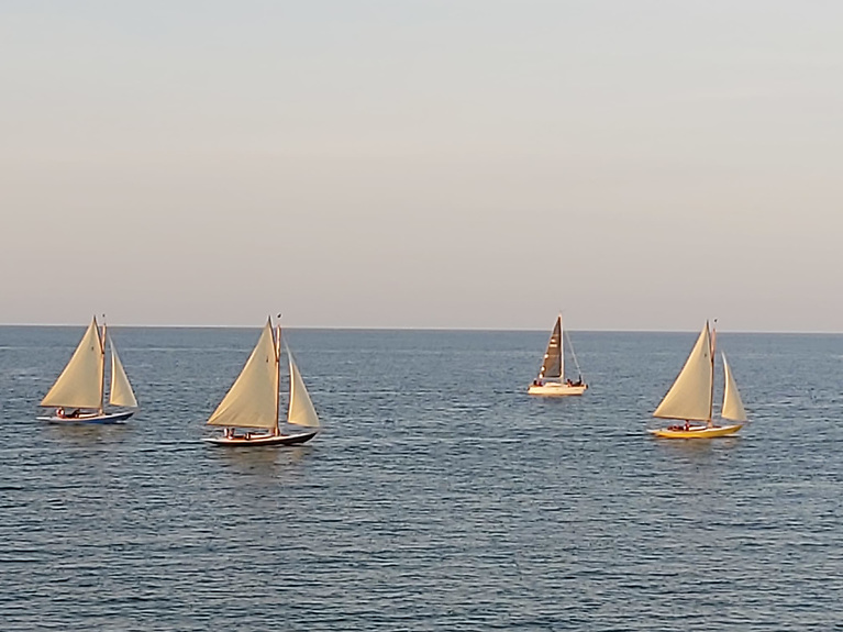 The Dublin Bay 21 Footers competing in the second last DBSC Tuesday Series race