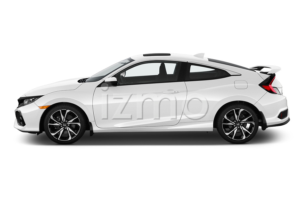 Car Driver side profile view of a 2019 Honda Civic-Si-Coupe - 2 Door Coupe Side View