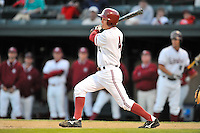 1 June 2008:  Stanford Cardinal Austin Yount (4) during Stanford's 13-1 win over the Pepperdine Waves in game 6 of the NCAA Stanford Regional at Klein Field at Sunken Diamond in Stanford, CA.