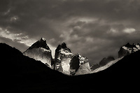 Paine Massif mountains.Torres Del Paine National Park, Chile, Patagonia