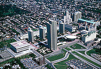 Aerial view of The New York State Capitol campus in Albany, NY, 07-0100. Albany New York United States.