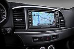 Navigation system close up detail view of a 2010 Mitsubishi Lancer Sportback
