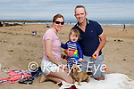 Enjoying Ballybunion beach on Sunday, l to r: Lizzie, Peter and Joshua Lane from Mountcollins with Sky the dog.