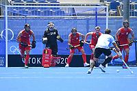 20th July 2021, TOKYO, JAPAN:  Vanasch Vincent (Bel) Van Doren Arthur (Bel)  pictured during a friendly game against Argentina prior to the Tokyo 2020 Summer Olympic Games