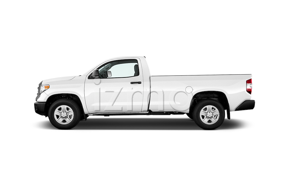 Car Driver side profile view of a 2017 Toyota Tundra 5.7 Auto SR Regular Cab 2 Door Truck Side View