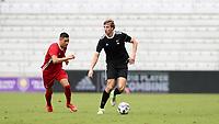 Orlando, Florida - Saturday January 13, 2018: Wyatt Omsberg. Match Day 1 of the 2018 adidas MLS Player Combine was held Orlando City Stadium.