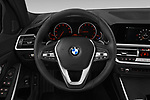 Car pictures of steering wheel view of a 2019 BMW 3-Series-Sedan 330i-Sport-Line 4 Door Sedan Steering Wheel