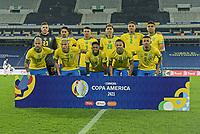 2nd July 2021; Nilton Santos Stadium, Rio de Janeiro, Brazil; Copa America, Brazil versus Chile; Players of Brazil pose for their official match photo