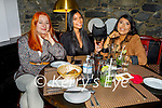 Enjoying the evening the in Croi on Saturday, l to r: Christina Nagacevschi, Louie Ocao and Aziza Asmatu (All Tralee).