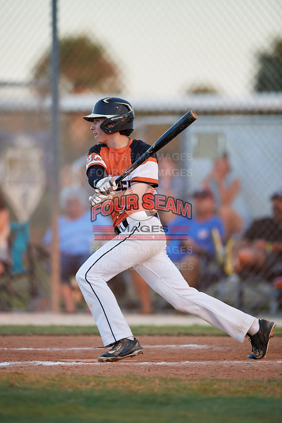 Carson Jones during the WWBA World Championship at the Roger Dean Complex on October 20, 2018 in Jupiter, Florida.  Carson Jones is an outfielder from Fort Mill, South Carolina who attends Fort Mill High School and is committed to Francis Marion.  (Mike Janes/Four Seam Images)