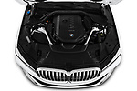 Car stock 2020 BMW 7 Series 740i Luxury 4 Door Sedan engine high angle detail view