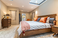 BNPS.co.uk (01202) 558833. <br /> Pic: LuxuryAndPrestige/BNPS<br /> <br /> Pictured: Bedroom. <br /> <br /> A heavenly converted chapel that has been transformed into a contemporary home is on the market for £1.5m.<br /> <br /> The Old Chapel was used by an order of nuns for 139 years before the humble church got a stylish upgrade into a four-bedroom property.<br /> <br /> The Grade II listed building has been carefully restored to retain stunning ecclesiastical features like windows, archways and doors, but with a modern twist.<br /> <br /> And although the owner bought it from the developer before it was finished, the stunning home has never been lived in.
