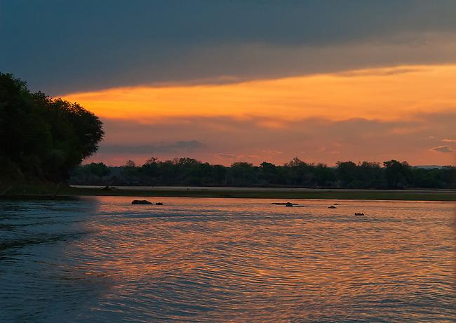 Luangwa River Sunset, South Luangwa National Park