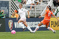 Elise Weber, Meghn Schnur...Saint Louis Athletica defeated Sky Blue FC 1-0 at Anheuser-Busch Soccer Park, Saint Louis, MO.
