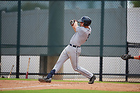 GCL Tigers West Cole Zabowski (9) bats during a Gulf Coast League game against the GCL Phillies West on July 27, 2019 at the Carpenter Complex in Clearwater, Florida.  (Mike Janes/Four Seam Images)