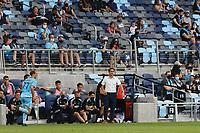 SAINT PAUL, MN - MAY 1: Josh Wolff head coach of Austin FC during a game between Austin FC and Minnesota United FC at Allianz Field on May 1, 2021 in Saint Paul, Minnesota.