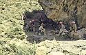 Iraq 1983 <br /> A cave near Haj Omran where  Idris Barzani meets his peshmerga officers   <br /> Irak 1983 <br /> Dans une grotte pres de Haj Omran, ou Idris Barzani rencontre ses officiers peshmergas