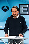 Leader of Unidas Podemos Pablo Iglesias before the electoral debate organized by Atresmedia television network on April 22, 2019 in Madrid, Spain.(ALTERPHOTOS/Alconada).