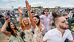May 15, 2021: Fans dance and enjoy the performance of Major Lazer at Preakness Live in the infield on Preakness Stakes Day at Pimlico Race Course in Baltimore, Maryland. Scott Serio/Eclipse Sportswire/CSM