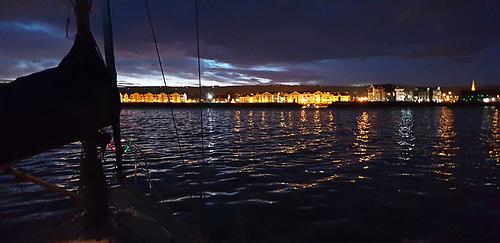twinkling lights of Carrickfergus