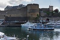 France, Bretagne, (29), Finistère, Brest:   Base Navale et Arsenal de Brest - Le  Château de Brest