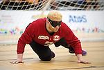 Brendan Gaulin, Toronto 2015 - Goalball.<br /> Canada's men's Goalball team plays against USA in the semi finals // L'équipe masculin de goalball du Canada joue contre les États-Unis en demi-finale. 14/08/2015.