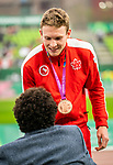 Lima, Peru -  25/August/2019 -  Liam Stanley takes the bronze medal in the men's 400m T37 at the Parapan Am Games in Lima, Peru. Photo: Dave Holland/Canadian Paralympic Committee.